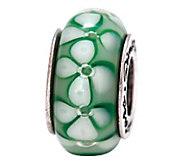 Prerogatives Sterling Green Floral Glass Bead - J108802