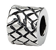 Prerogatives Sterling Silver Basketweave Bali Bead - J111502