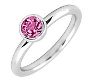 Simply Stacks Sterling 5mm Rnd Pink TourmalineSolitaire Ring - J298802