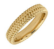 Simply Stacks Sterling 18K YellowGold-Plated Zigzag 4.25mmRin - J299002