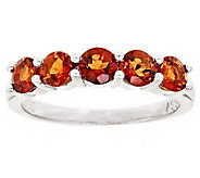 Sterling 5-Stone Round Gemstone Band Ring - J309002