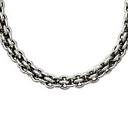 Stainless Steel 22 Round Link Chain Necklace - J309702