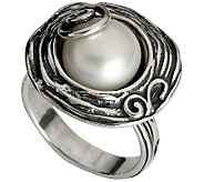 Or Paz Sterling Cultured Freshwater Pearl Swirl Ring - J310002