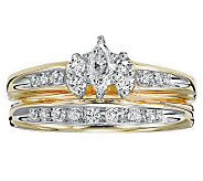 Marquise Diamond 2-Piece Ring Set, 14K, 1/2cttw, by Affinity - J311402