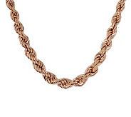 Bronzo Italia 18 Polished Graduated Rope Necklace - J313502