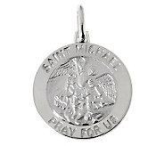 UltraFine Silver Saint Michael Pendant - J314902