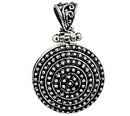 Artisan Crafted Sterling Beaded Round Pendant - J315102