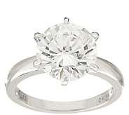 Diamonique 3.00 cttw Solitaire Ring, Platinum Clad - J326502