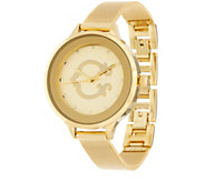 C. Wonder Signature C Round Dial Mesh Strap Watch - J329702