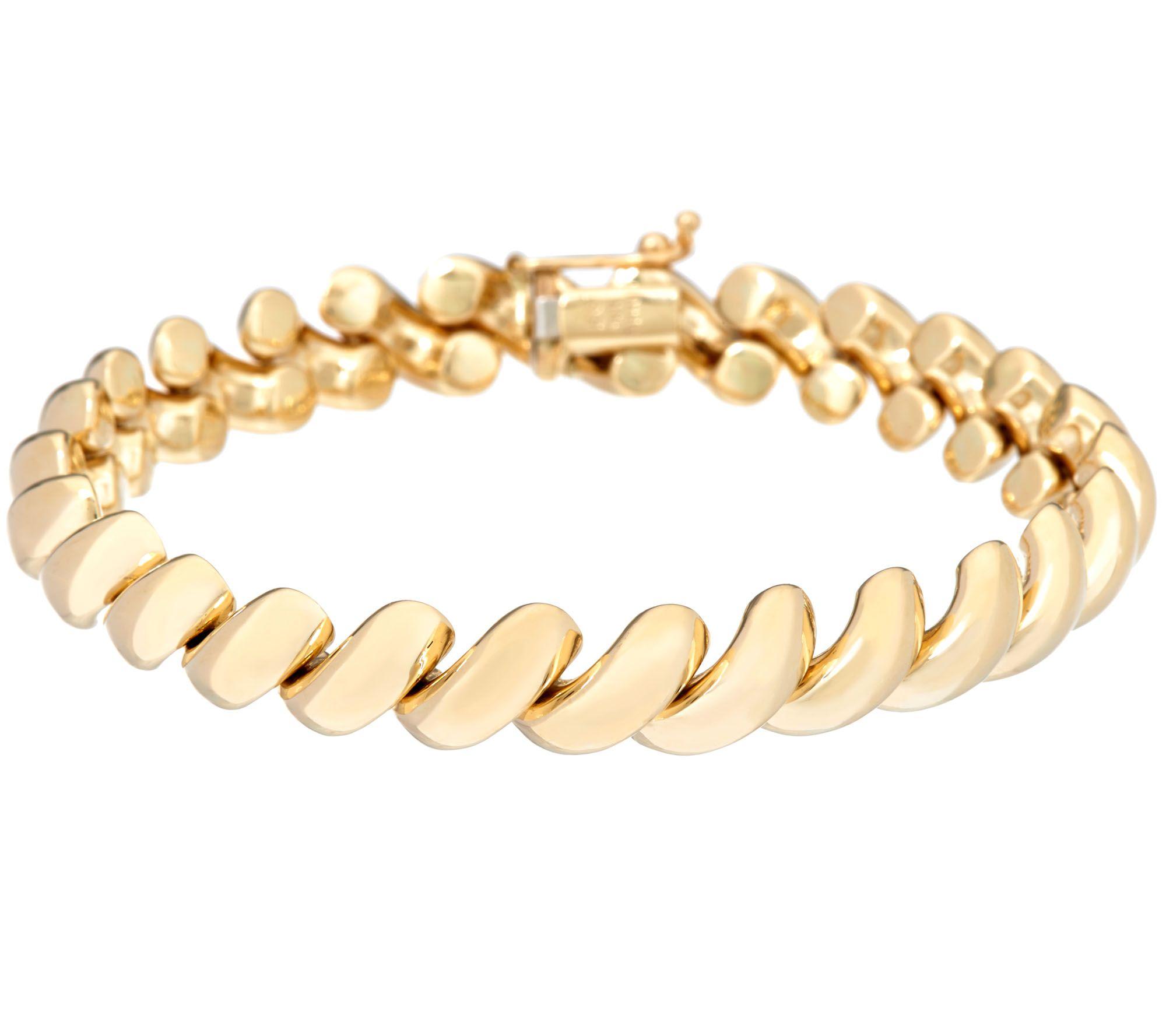 Eternagold 6 3 4 Polished San Marco Bracelet 14k Gold 11 6g Page 1 Qvc