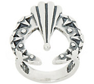 Fritz Casuse Sterling Silver Textured Naja Ring - J355702