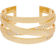 As Is Melinda Maria Criss Cross Cuff Bracelet - Jennifer - J357902