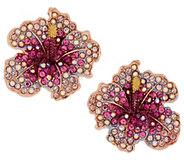 As Is Joan Rivers Elegance in Bloom Pave Hibiscus Earrings - J358202