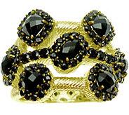 Judith Ripka 14K Clad Onyx & Black Spinel Ring - J377602