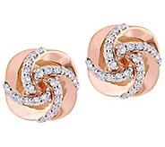 Affinity 14K 1/3 cttw Diamond Swirl Stud Earrings - J383702