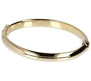 Veronese 18K Gold-Clad Polished or Satin Finished Oval Bangle - J391802