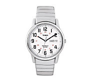 Timex Mens Easy Reader Stainless Steel Watch &Expansion Band - J102903