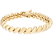 EternaGold 7-1/4 Polished San Marco Bracelet 14K Gold, 12.5g - J333603