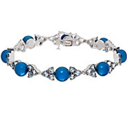 Honora Cultured Pearl & Gemstone 8 Sterling Tennis Bracelet - J335003