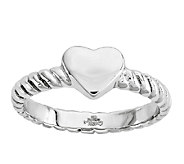 Stainless Steel Twisted Heart Ring - J337803