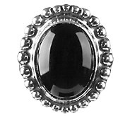 American West Treasures Sterling Black Chalcedony Insert - J338103