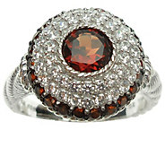 Judith Ripka Sterling Diamonique & Birthstone Ring - J341603