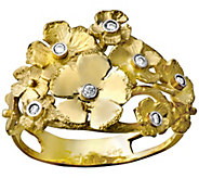 Adi Paz 14K Gold Diamond Accent Flower Ring - J341703