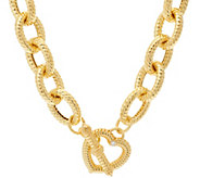Judith Ripka 20 14K Clad Verona Heart Clasp Necklace, 124g - J341803