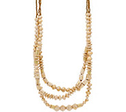 31 Bits Triple Strand Beaded Sedona Strands Necklace - J349303