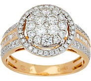 As Is 1.00 cttw Round Cluster Diamond Ring 14K Gold by Affinity - J350603