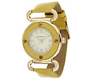 As Is Isaac Mizrahi Live! Vintage Dial Strap Watch - J358303