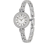 Diamonique Stainless Steel Vintage Style Round Watch, Boxed - J359203