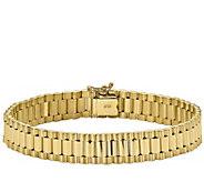 14K Gold Mens 8 Polished Link Bracelet, 30.6g - J384403