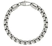 Steel by Design Mens 9 Square Link Bracelet - J385503