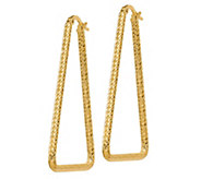Italian Gold Triangular Shaped Earrings, 14K - J385603