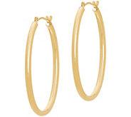 EternaGold 1-3/8 Polished Oval Hoop Earrings,14K Gold - J386203