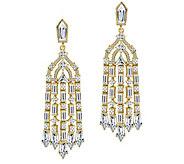 Judith Ripka Gold Clad 2.55cttw Diamonique Chandelier Earring - J387603
