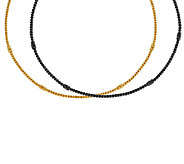 Judith Ripka Sterling or 14K Clad Textured Collar Necklace - J52303