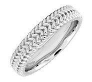 Simply Stacks Sterling Silver Zigzag 4.25mm Ring - J299004