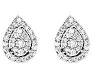 Diamond Cluster Teardrop Stud Earrings, 14K, byAffinity - J313404