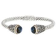 Artisan Crafted Sterling Silver & 18K Gold Gemstone Cuff Bracelet - J335904