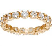 Diamonique 2.00 ct Eternity Band Ring, 14K Gold - J350004