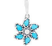 Carolyn Pollack Sleeping Beauty Turquoise Pinwheel Enhancer - J353904