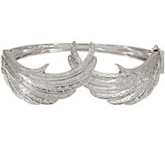 Angel Wing Diamond Bangle, Sterling, 1/2 cttw, by Affinity - J354804