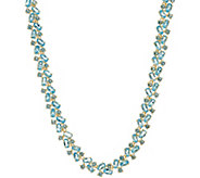 Mixed Shape Gemstone Tennis Necklace, Sterling Silver - J355404