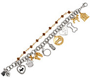 John Wind Double Chain Antiqued Charm Bracelet - J357904