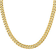 14K Yellow Gold Beveled 24 Curb Necklace, 97.4g - J378404