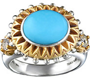 Barbara Bixby Sterling & 18K Turquoise Ring - J379304
