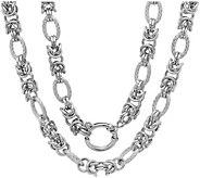 Stainless Steel Byzantine Link 18 Necklace - J380104