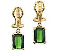 Judith Ripka 14K Gold Green Tourmaline & Diamond Earrings - J381304